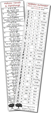 Hebrew Bookmark