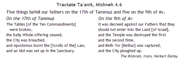 The Mishnah, Ta'anit 4.6