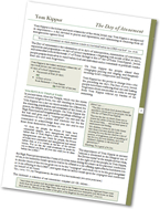Download Study Sheet: Yom Kippur - The Day of Atonement